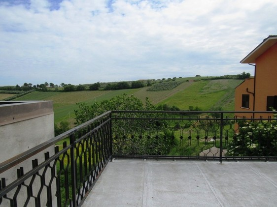 Stone built, countryside property with sun terrace, garden and garage overlooking rolling green hills. 1