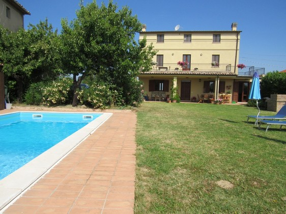 4 bedroom, nicely finished villa with Swimming pool 1km from town with amazing views .