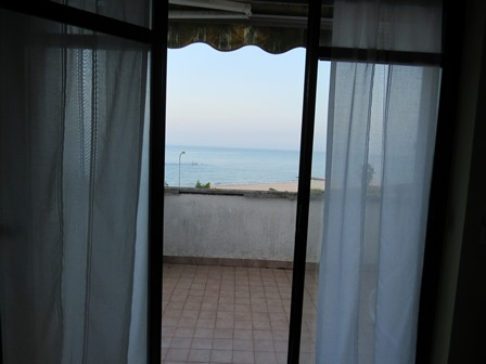 300 meters from the beach, with open sea views, finished 2 bed apartment on the first floor.