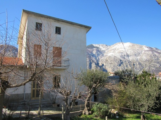 Amazing mountain views from this stone, habitable, 3 bedroom, farm house and olive grove.