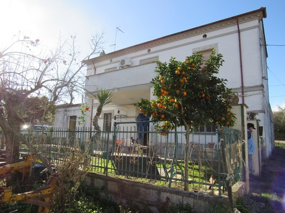 Detached, habitable farmhouse amongst other houses with 4000sqm of flat land, a garage and 4 bedrooms.
